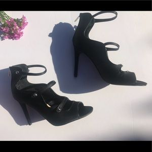 Guess Black military heels size 10